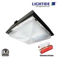 DLC Premium Emergency LED Gas Station Canopy Lights, 90W low profile, Emergency Time 90 min. Manufactures