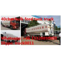 dongfeng tianlong 8*4 LHD 40cbm animal feed delivery truck for sale, 25tons farm-oriented bulk feed tank truck for sale Manufactures