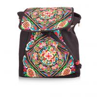 Buy cheap 2016 new design peony flower colorful enthnic embroidery backpack form factory from wholesalers