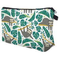 Girls Zipper Closure Polyester Cosmetic Bag For Travel Manufactures