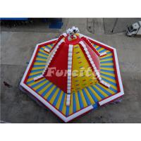15mL*15mW*8mH PVC Tarpaulin Giant Inflatable Volcano Rock Climbing Wall With Slide For Children Manufactures
