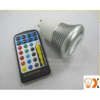 Indoor 5w GU10/E27 RGB led color changing light bulb with remote 95mm×60mm Manufactures