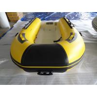 Quality Unique Deep V Bottom Fiberglass Hull Aluminum RIB Boat With Wood Bench Seat for sale