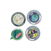 Custom Iron On Clothes Adhesive Embroidered Patches Laser Cut Border Manufactures