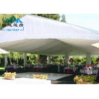 Custom Printed Romantic Wedding Tents High Peak Waterproof PVC Fabric Manufactures