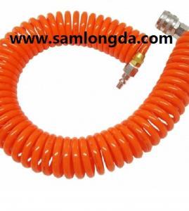 PU spiral hose with good quality, air hose,PU coil tube, PU hose, polyurethane hose,PUC1208, Color as request Manufactures