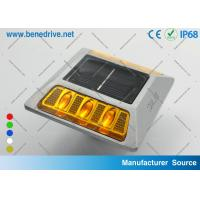 Active Solar Barricade Lights With Reflectors Double sides LEDs SRS0404 Manufactures