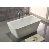 Quality Acrylic Resin Square Freestanding Bathtub Contemporary Small Freestanding Bath for sale