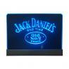 200x300mm desktop blue led edgelit sign with engraved logo Manufactures