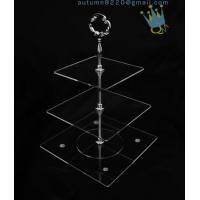 CD (42) 3-layer cake stand with silver stick Manufactures