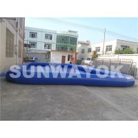 Airtight Inflatable Portable Swimming Pools Dark Blue  With Pump Fire-retardant Manufactures