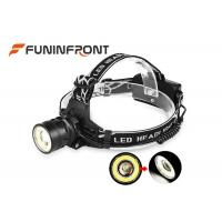 Quality 4 Gears CREE T6 and COB Light Outdoor LED Headlamp, Zoom Focus Bicycle Headlight for sale