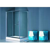 Clear Glass Sliding Shower Enclosure , Wall Corner Entry Shower Enclosure Manufactures