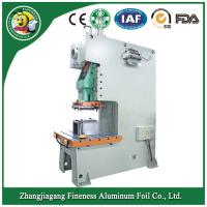 Disposable plastic aluminum foil food container making machine Manufactures