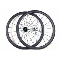 Tubular Clincher Carbon Cycling Wheels T700 , Carbon 38mm Fixed Rear Wheel 700c  Manufactures