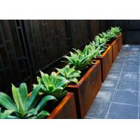 Customized Square Metal Planters Outdoor Corten A Material 50cm Height Manufactures