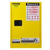 China Yellow Fireproof Flammable Safety Cabinets 12 Gal / 45L With Adjustable Leveling Feet on sale