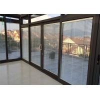 Quality Balcony Aluminum Sliding Glass Doors , Interior Sliding Doors With Shutter for sale