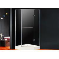Quality Diamond Frameless Hinged Shower Enclosure 800 x 800 Folding Open With Magnetic for sale
