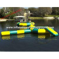 Bongo Huge Inflatable Water Trampoline Combo , Floatable Trampoline Water Park Manufactures