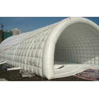 Big White 0.45mm PVC Tarpaulin Inflatable Party Tent Tunnel Shape Manufactures