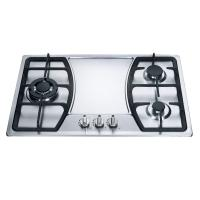 Built In 3 Burner Gas Hob Kitchen Equipment Stainless Steel Cooktop Manufactures