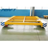 Cable Drum Power Electric Flatbed Cart , Abrasive Blasting Rail Transfer Cart Manufactures