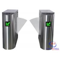 China Stainless Steel Retractable Flap Barrier Gate , Bi - directional Multi Access Control Turnstiles on sale