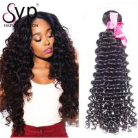 China Full Cuticle Aligned Indian Remy Hair Extensions With Thick Bottom Unprocessed on sale