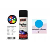 OEM Available Removable Rubber Spray Paint Matt Sky Blue Color For Wheel Manufactures