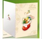 Custom Handmade Beautiful Decoration Merry Christmas Printable Greeting Cards Manufactures
