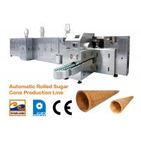 Buy cheap Efficient ice cream cone automatic production equipment ice cream cone shell machine from wholesalers