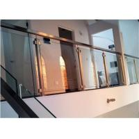 Easy Installation Apartment Balcony Railing Stainless Steel Building Railing Post Glass Manufactures