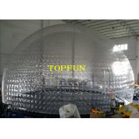 Transparent PVC Large Inflatable Bubble Dome Tent For Exhibition And Party Manufactures