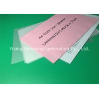 A4 Size Thermal Lamination Film 216 x 303 mm Photo Laminating Pouches Manufactures