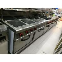 Buy cheap Western Kitchen Equipment Commercial Gas Stove 4 Burner with Down Oven 700*700*850+70mm from wholesalers