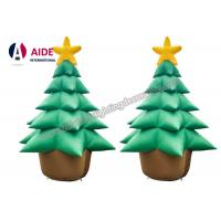 Oxford Cloth Giant Inflatable Holiday Decor , Air Brown Inflatable Christmas Tree Manufactures