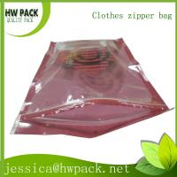 clothes easy open zipper bag Manufactures