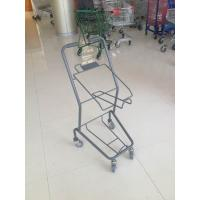 Colorful Steel Shopping Basket Trolley With PVC / PU / TPR Wheel Manufactures