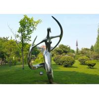 Polished Stainless Steel Abstract Outdoor Metal Sculpture for Garden Manufactures