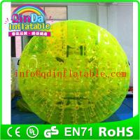 China QinDa Inflatable Aqua Zorb Ball for sale human bubble ball Grass Zorbing Ball on sale