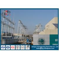 Power Transformer Substation Tubular Steel Utility Structures Q235 ISO 9001 Manufactures