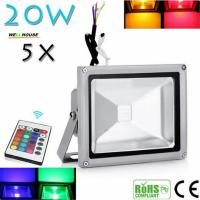 Beautiful Design 30W RGB LED Outdoor Waterproof Flood Light Wash Floodlight Lighting With Remote Controller AC85-265V Manufactures