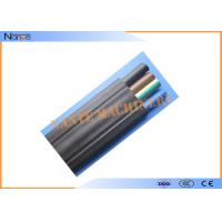 Mixed PVC Flat Electric Cable Copper Strand Flat Power Cable Black Or Grey Manufactures