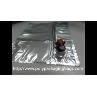 Plastic Flexible Packaging Reusable Bag In Box With Spout , Silver Manufactures