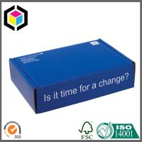 Blue Color Custom Design Print Corrugated Cardboard Shipping Box Mailer Style Manufactures