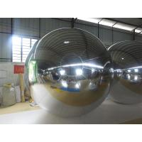 3M PVC Silvery MIirror Inflatable Advertising Ball For Exhibition Manufactures