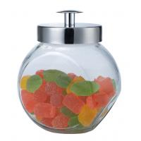 Small size  glass canisters with metal lid,1.5L for sugar,cookie Manufactures