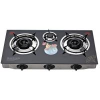 Indoor Glass Top Gas Stove 3 Burner , Table Top Three Burner Gas Stove Manufactures
