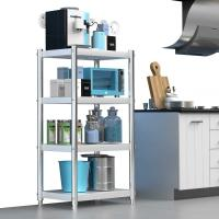 China H131 Square Four Layers Stainless Steel Kitchen Rack With Adjustable Feet on sale